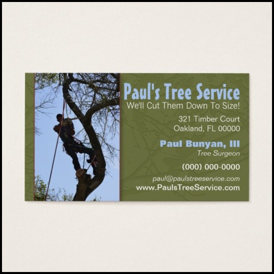 tree service business cards - Tree Service Business Cards