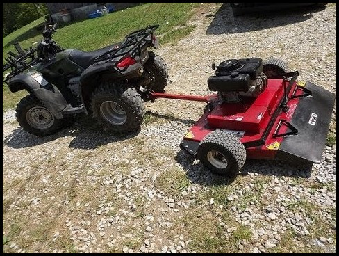 4 Wheeler Lawn Mower