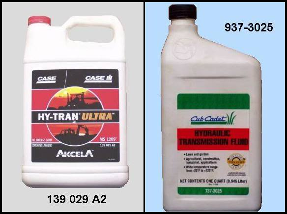 Cub Cadet Hydrostatic Transmission Fluid