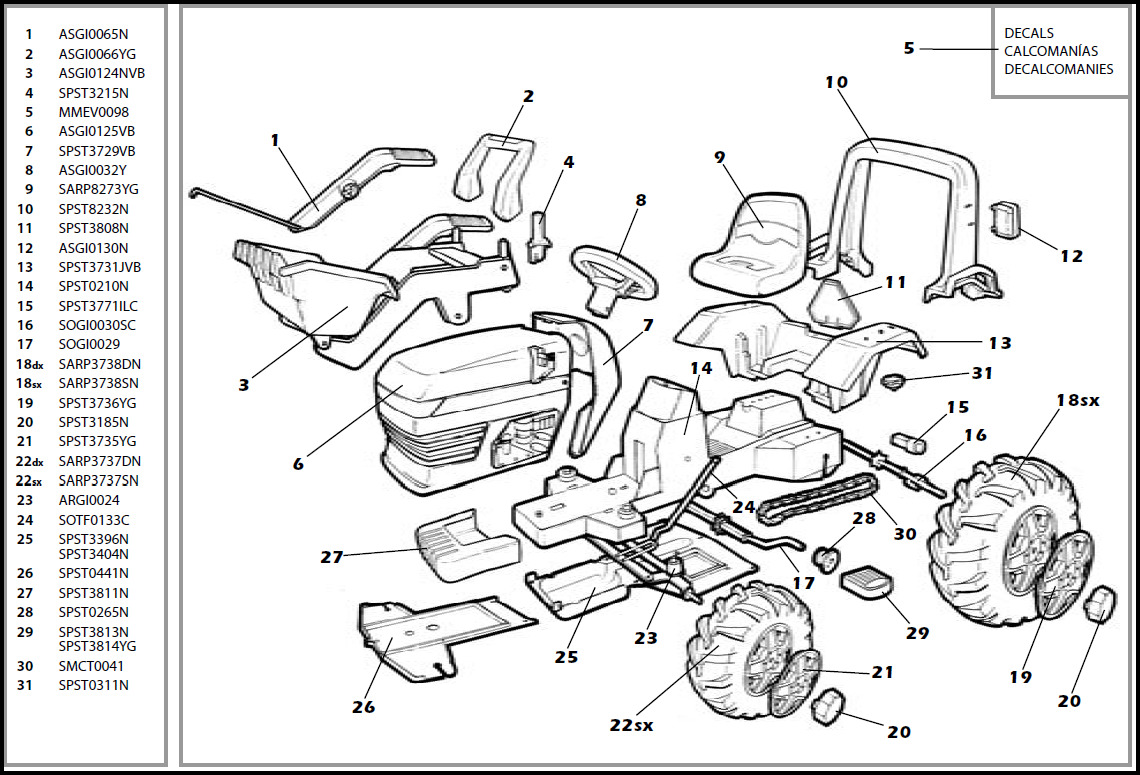 John Deere Riding Lawn Mower Parts Diagram