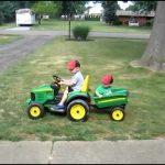 Kids Riding Lawn Mower