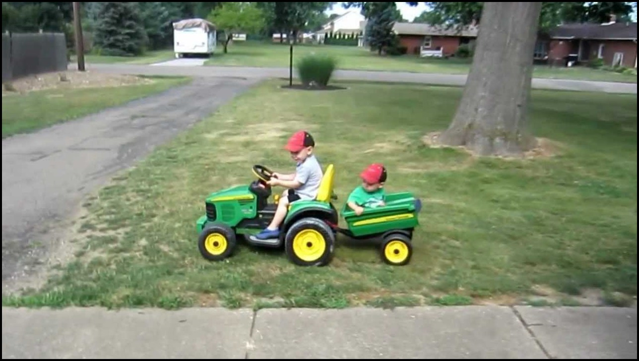 Kids Riding Lawn Mower