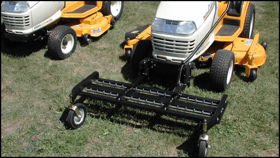 Lawn Mower Rake Attachment