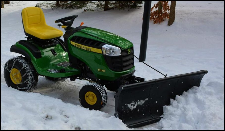 Lawn Mower With Plow