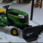 Lawn Mower With Snow Plow