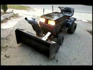 Lawn Mower With Snowblower Attachment