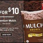 Lowes Mulch Sale 5 For 10