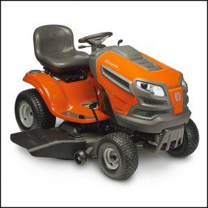 Orange Riding Lawn Mower