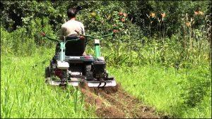 Pull Behind Tiller For Lawn Mower