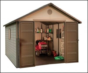Riding Lawn Mower Shed