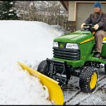 Riding Lawn Mower With Snow Plow