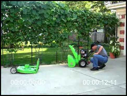 Snow Blower Lawn Mower Combo
