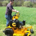 Standing Riding Lawn Mower