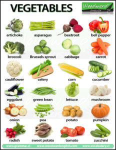 Vegetables Names With Pictures