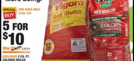 Home Depot Red Mulch Sale