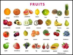 List Of Fruit And Vegetables