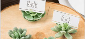 Succulent Place Card Holder