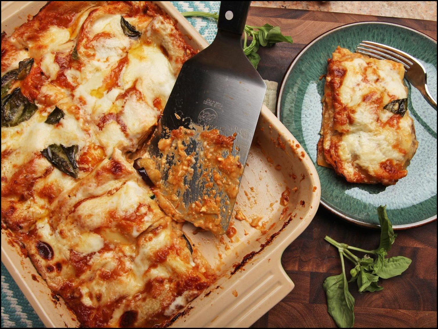 Vegetable Lasagna With Eggplant