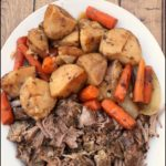Slow Cooker Pot Roast Recipe With Vegetables